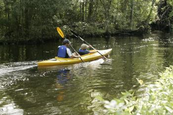 Kayaking in the River