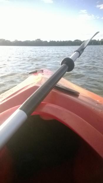 Kayaking the lake