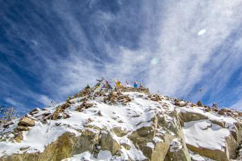 Khardung la pass during winters.