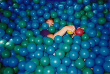 Kid Playing with Balls