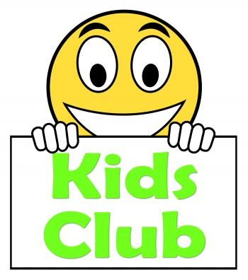 Kids Club On Sign Means Childrens Activities
