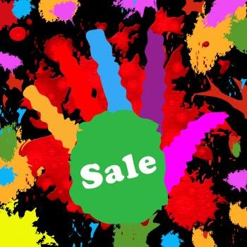 Kids Sale Shows Cheap Merchandise And Toddlers