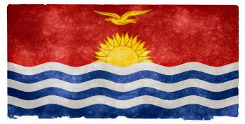 Kiribati Grunge Flag