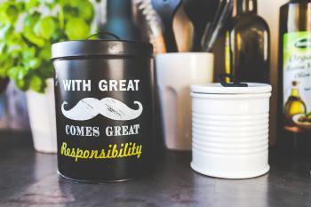 Kitchen jar with mustache