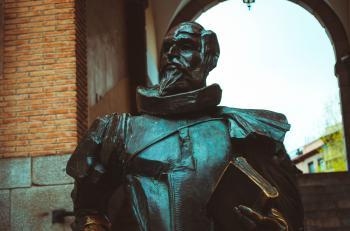 Knight Statue Near Window