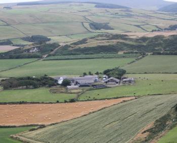 Knockaloe Farm from Corrin's Folly - the location of Hall Caine's 'The Woman of Knockaloe'
