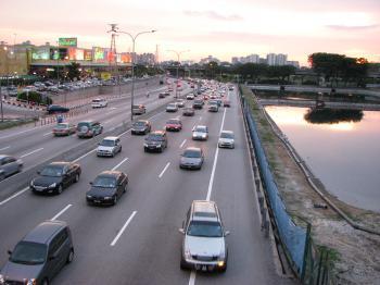 Kuala Lumpur highway view