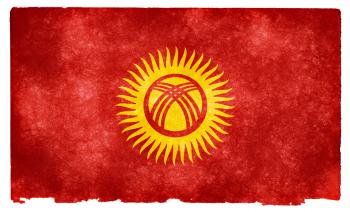 Kyrgyzstan Grunge Flag