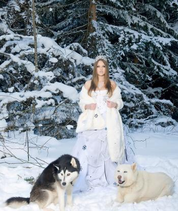 Lady with Wolves