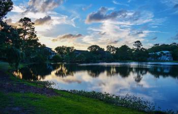 Lake during Sunrise