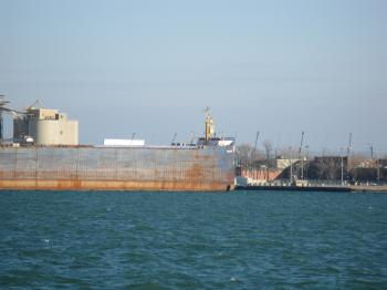 Lake freighter Algolake, moored in Toronto, 2013 01 16 -d