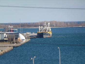 Lake freighter moored in the Eastern Gap, 2013 04 03 -c.JPG