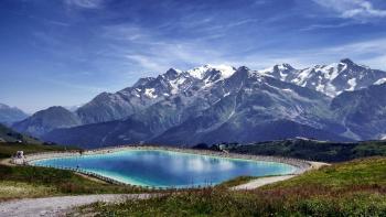 Lake Near Mountain Landscape Photo
