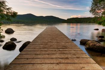 Lake Placid Sunset Jetty - HDR