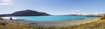 Lake Tekapo on a fine spring day