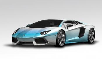 Lamborghini Aventador White-blue