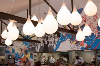 Lamps in the Restaurant