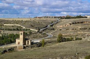 Landskape outside Segovia in Spain