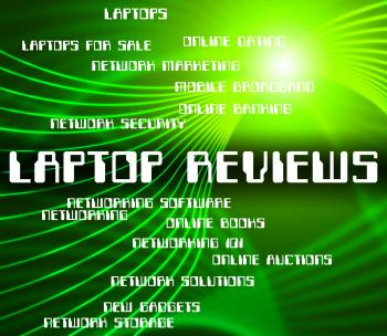 Laptop Reviews Shows Assessment Inspection And Appraisal