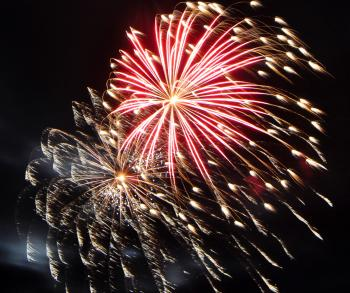 Large colorful fireworks
