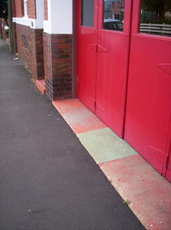 Large Red Doors