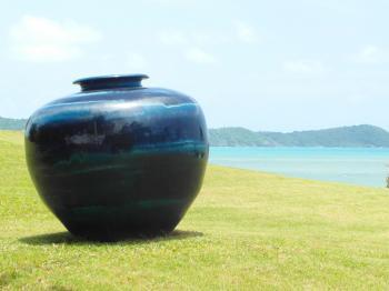 Large Vase in Ocean Garden
