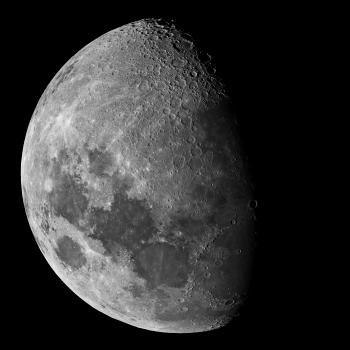 Last night's Waxing Gibbous Moon
