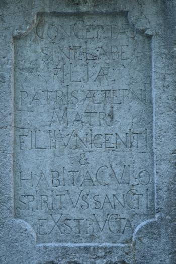 Latin words in stone