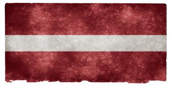 Latvia Grunge Flag