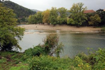 Le fleuve Orb sous un jour de pluie