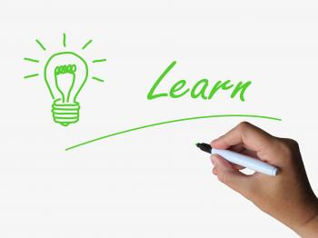 Learn and Lightbulb Means Training and Learning Skills or Knowledge