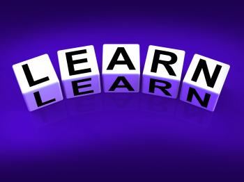 Learn Blocks Show Education Studying and Learning