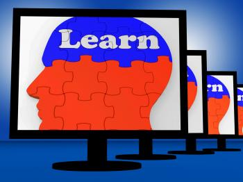 Learn On Brain On Monitors Showing Human Studying