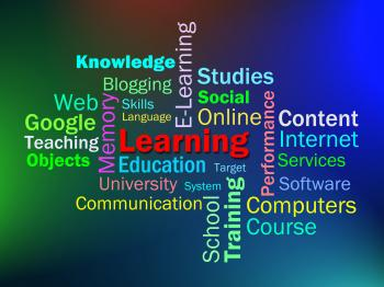 Learning Word Shows Learn Education Or Studying