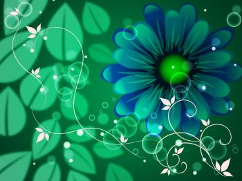 Leaves Background Means Petals Blooming And Floral