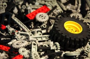 Lego Technic Pieces Pile