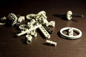 Lego Technic Pieces Pile Close Up