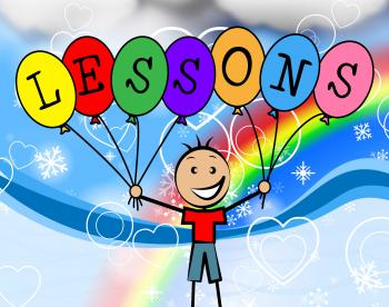 Lessons Balloons Represents Learning College And Train