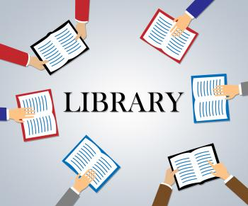 Library Books Indicates School Development And Educating