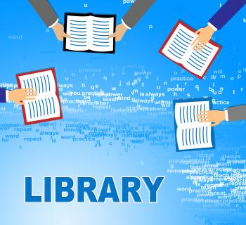 Library Books Represents Fiction Literature And Information