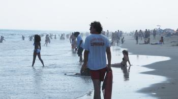 Lifeguard on a beach