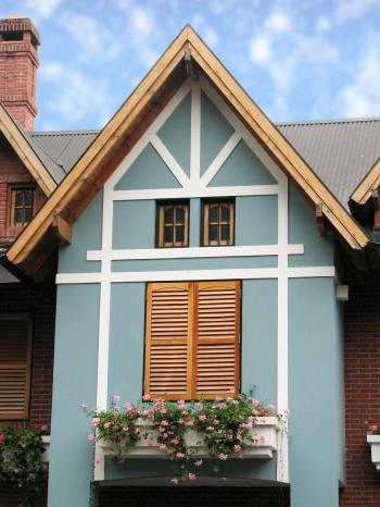 Light blue house