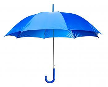 Light Blue Open Umbrella