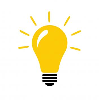 Light bulb with idea concept vector