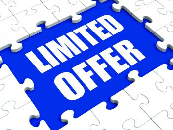 Limited Offer Puzzle Shows Deadline Product Promotion