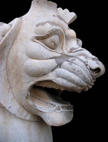 Lion sculpture, 2500 years ago, Iran