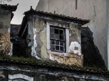 Lisbon architecture - old window