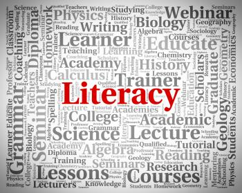 Literacy Word Means Read Proficiency And Ability