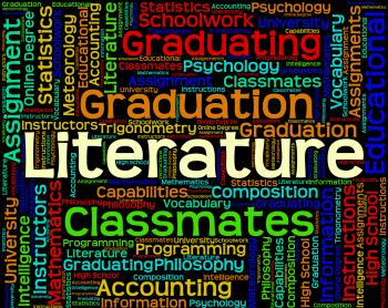 Literature Word Indicates Non Fiction And Words