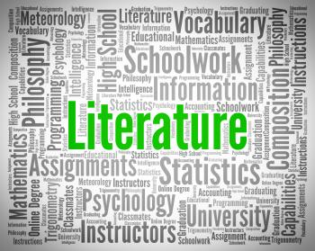 Literature Word Shows Creative Writing And Text
